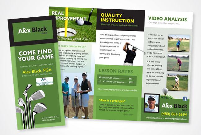 Bonilla Design & AdvertisingAlex Black Golf Instruction Brochure ...